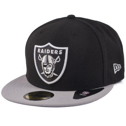 Черная бейсболка New Era Raiders