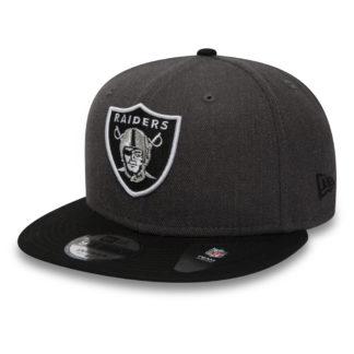 11871352-бейсболка new era nfl heather 9fifty Snapback Oakland Raiders