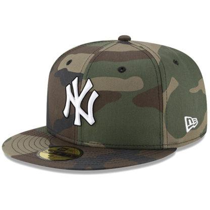 Бейсболка 59FIFTY NY YANKEES WOODLAND CAMO камуфляжная